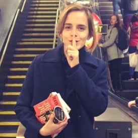 Emma Watson Hiding Copies of Mom & Me & Mom | Video