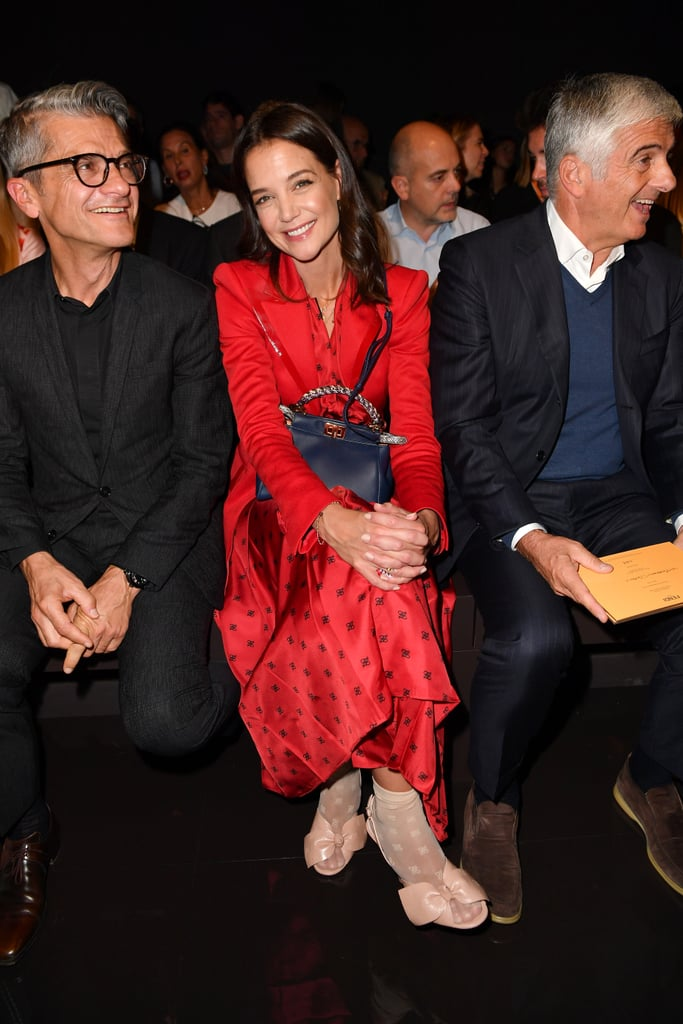 Katie Holmes at the Fendi Milan Fashion Week Show