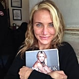 Cameron went makeup-free to show off the first bound copy of her book in December. Source: Instagram user camerondiaz