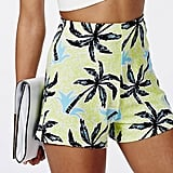 Missguided Lestyna palm print high waisted shorts (£8)