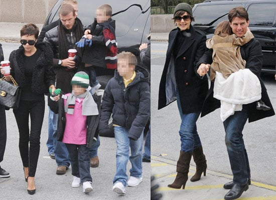Photos of David and Victoria Beckham and Brooklyn, Cruz and Romeo With Tom Cruise, Katie Holmes and Suri on Thanksgiving in NYC