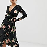 Fashion Union Petite Wrap Midi Dress