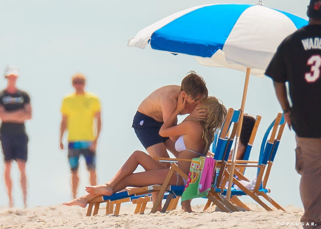 Kate Upton kissed her costar Nikolaj Coster-Waldau while filming a beach scene.