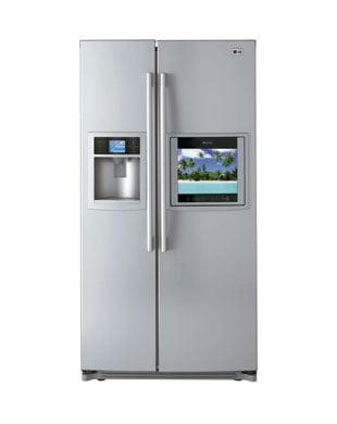 LG Refrigerator - TV, Remote Control, Kitchen Sink
