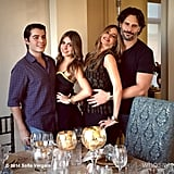 Sofia Vergara and Joe Manganiello showed sweet PDA in a photo with her son, Manolo, and his girlfriend.