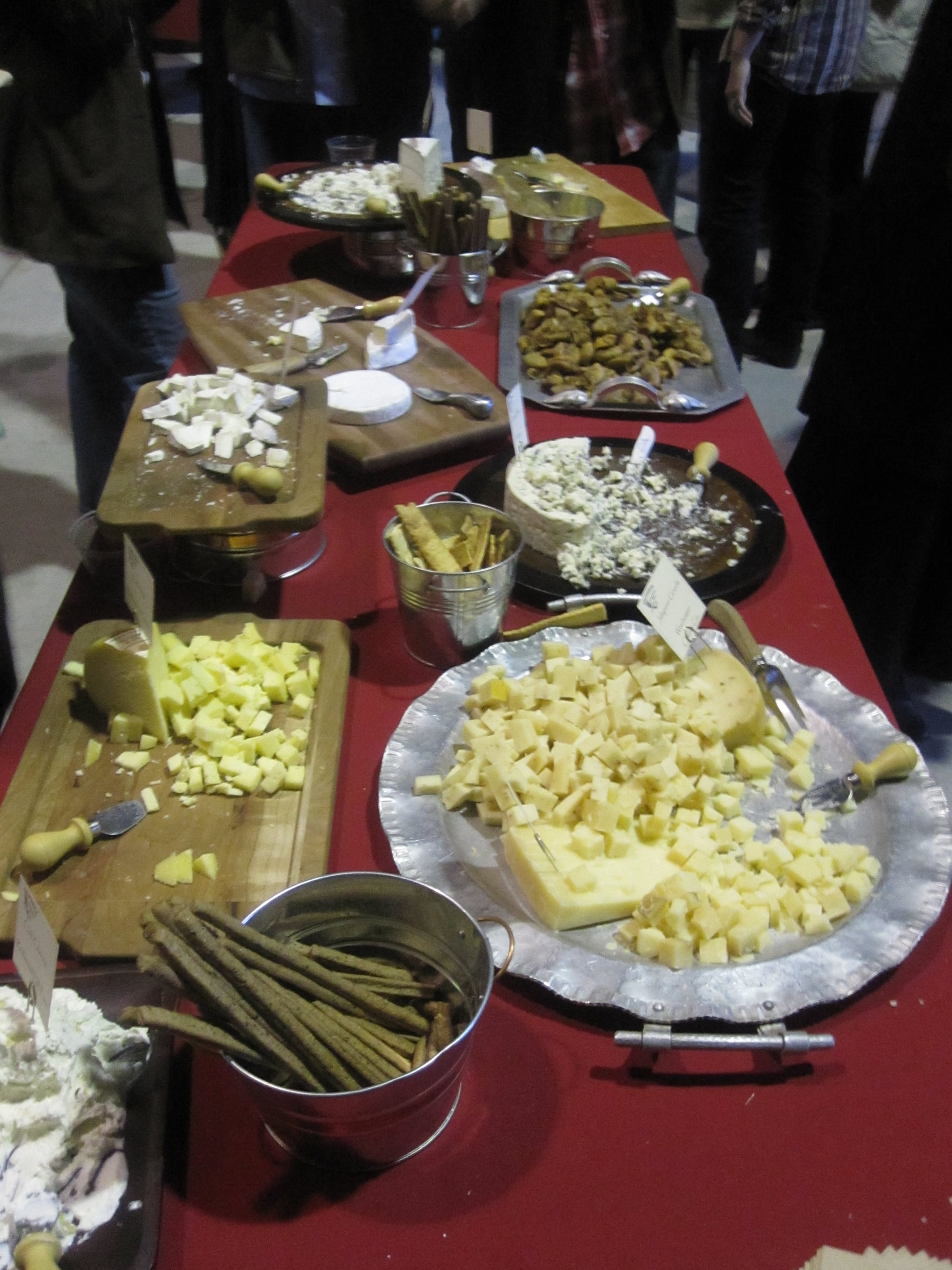 The cheese display!