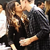 Shenae Grimes and her now-fiancé Josh Beech kissed in LA in July.