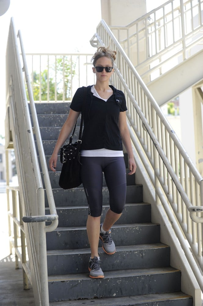 Jennifer Lawrence worked out in Santa Monica.