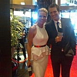Sonia Kruger and Jules Lund snapped a picture before the Logies madness.