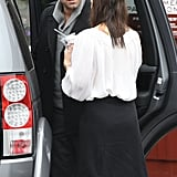 Ben Affleck and Jennifer Garner stopped to chat.