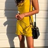 Satin Cowl Neck Mini Dress