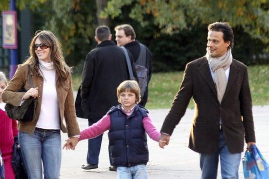 Elizabeth Hurley and family visit Disneyland Paris