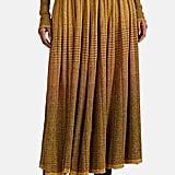 Ulla Johnson Billie Metallic Striped Rib-Knit Skirt