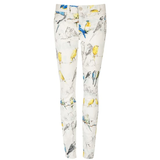Ted Baker Bird Print Jeans With Canaries and Budgies
