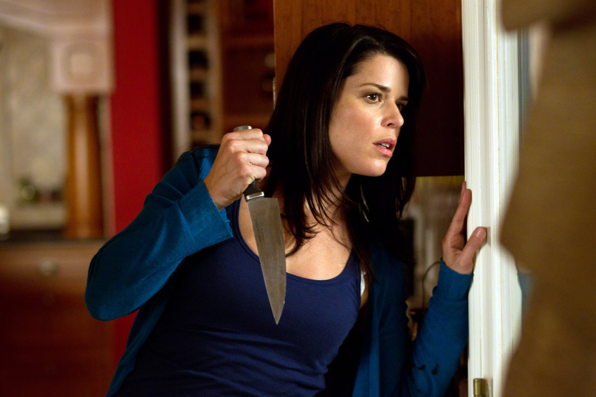 SCREAM 4, (aka SCRE4M), Neve Campbell, 2011, ph: Phil Bray/Dimension Films/courtesy Everett Collection