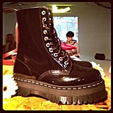 Check out the thick sole on Agyness Deyn's design for Dr. Martens!
