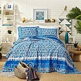 Blue Himaya Print Quilt Set