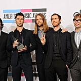 Maroon 5 picked up an award for favorite pop or rock group.