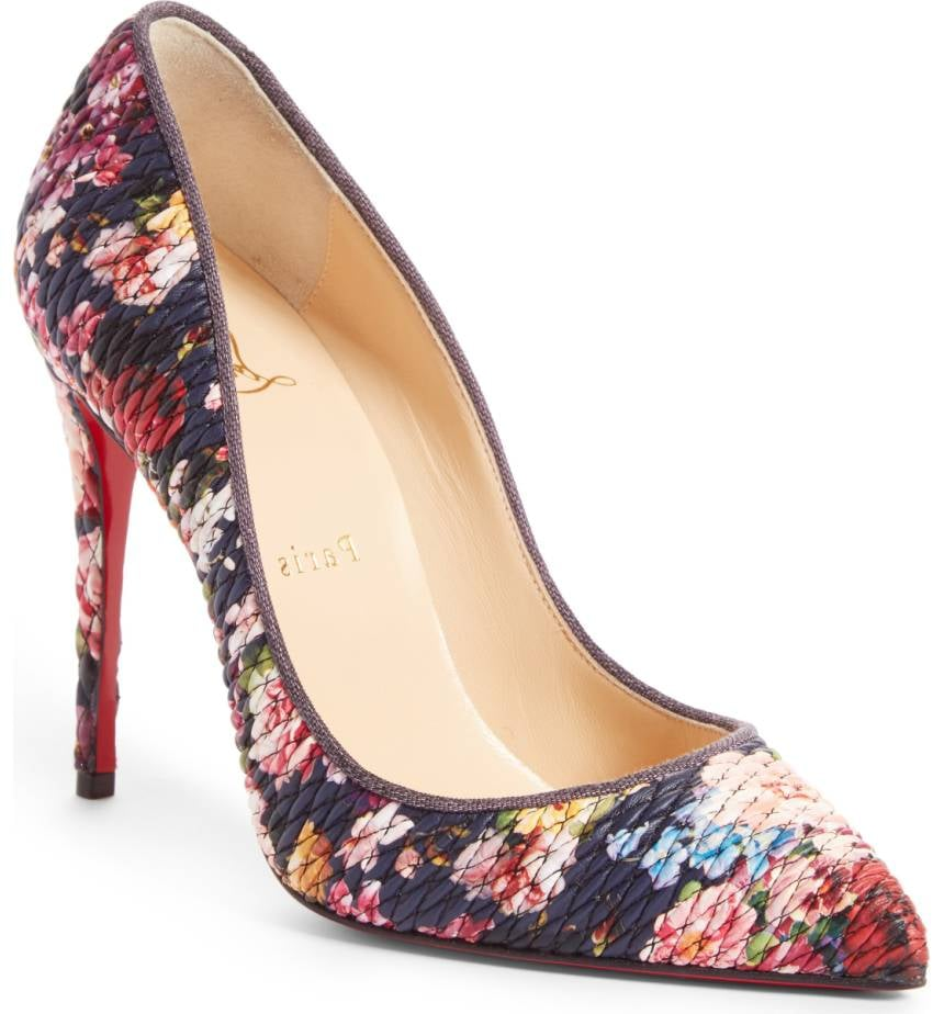 quality design ef290 57965 Our Pick: Christian Louboutin Floral Pumps | Amal Clooney's ...