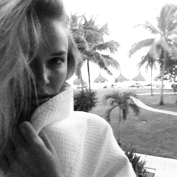 Lara Bingle posted a selfie from an exotic location. Source: Instagram user mslbingle