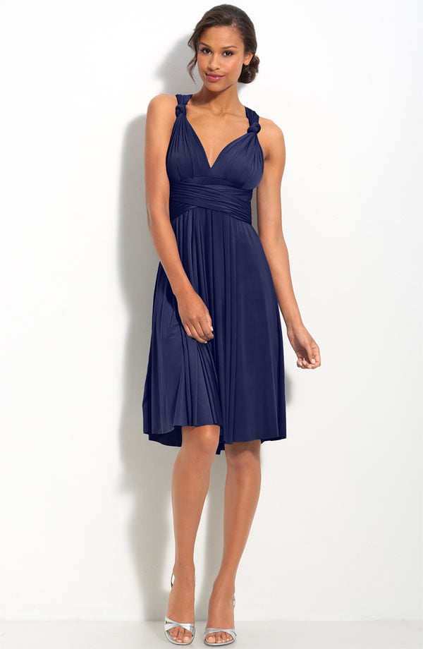 This convertible dress is totally amazing. The jersey fabric won't wrinkle when you roll it up in your bag, and later you're free to adjust the style from halter to strapless and beyond.  TwoBirds Convertible Jersey Dress ($270-$290)