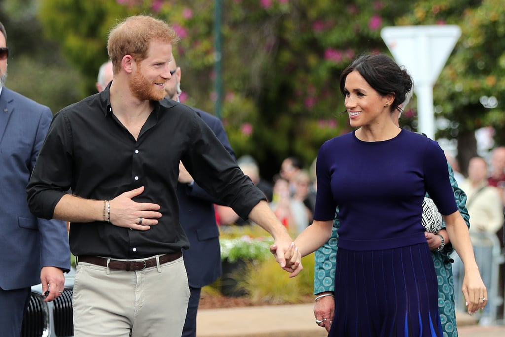 Prince Harry and Meghan Markle have proven time and time again that they aren't your typical royal couple. Not only did they go against tradition with their wedding in May 2018, but they also have a special way of showing off their love in public. While most royals, like Prince William and Kate Middleton, usually refrain from showing PDA, Harry and Meghan are completely the opposite. In fact, they have become notorious for their sweet gestures toward one another. Aside from touching each other's backs, you can almost always spot them holding hands. It's clear these two are shaking things up when it comes to traditional royal behavior, and we love them for it.       Related:                                                                                                           12 Times Meghan Markle Went Against Tradition and Broke Royal Protocol