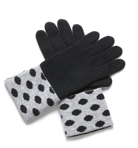 Opt for polka-dot-accented hand warmers. Portolano Polka Dot Cuff Gloves ($35, originally $50)