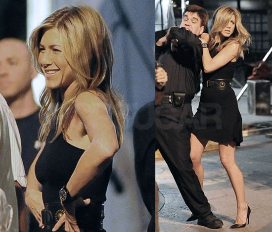 Photos of Jennifer Aniston Filming 30 Rock With Alec Baldwin