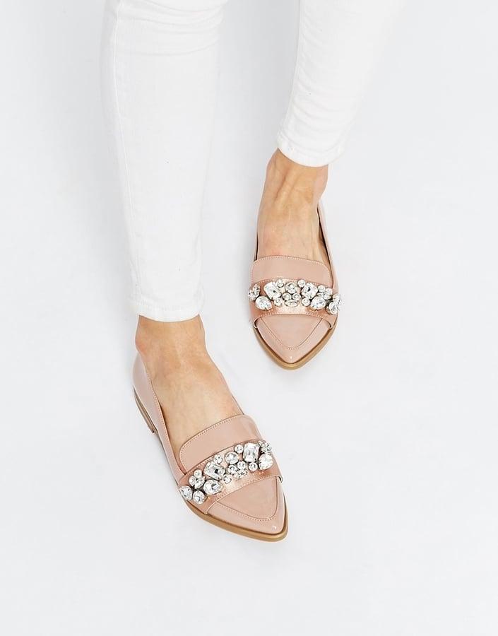 794d9d12e5 ASOS Rhinestone Flat Loafers ($72) | Fall Shoe Trends 2015 ...