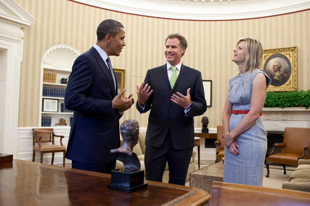 Will Ferrell and his wife, Viveca, laughed with President Obama in the Oval Office. Oct. 2011.