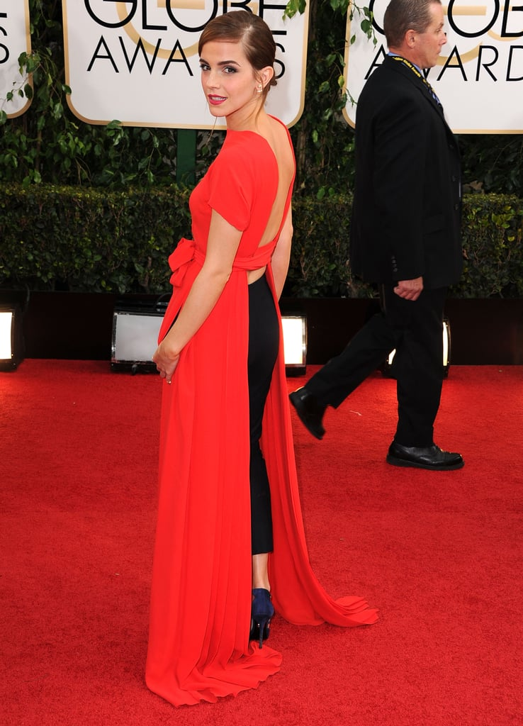 Emma Watson brought the look to light in a Dior ensemble at the 2014 Golden Globes.