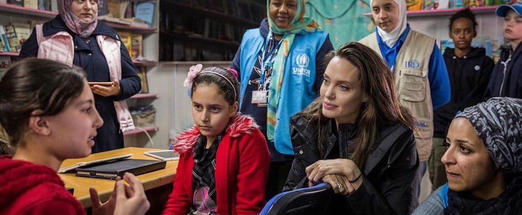 أنجلينا جولي تزور مخيّم اللاجئين 2018