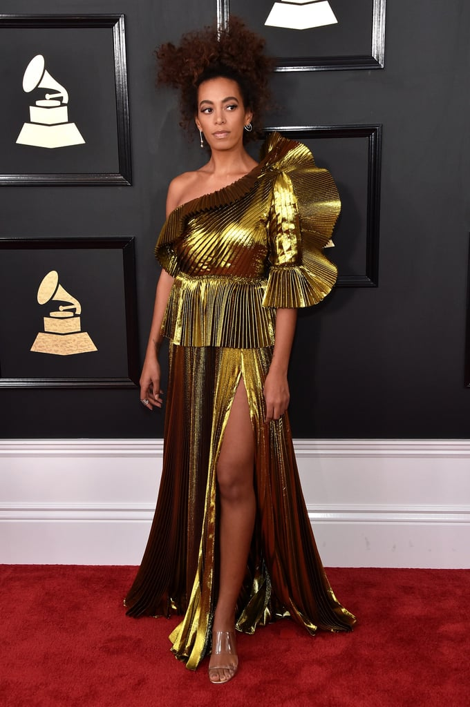 Solange Knowles's Gold Dress at the Grammys 2017