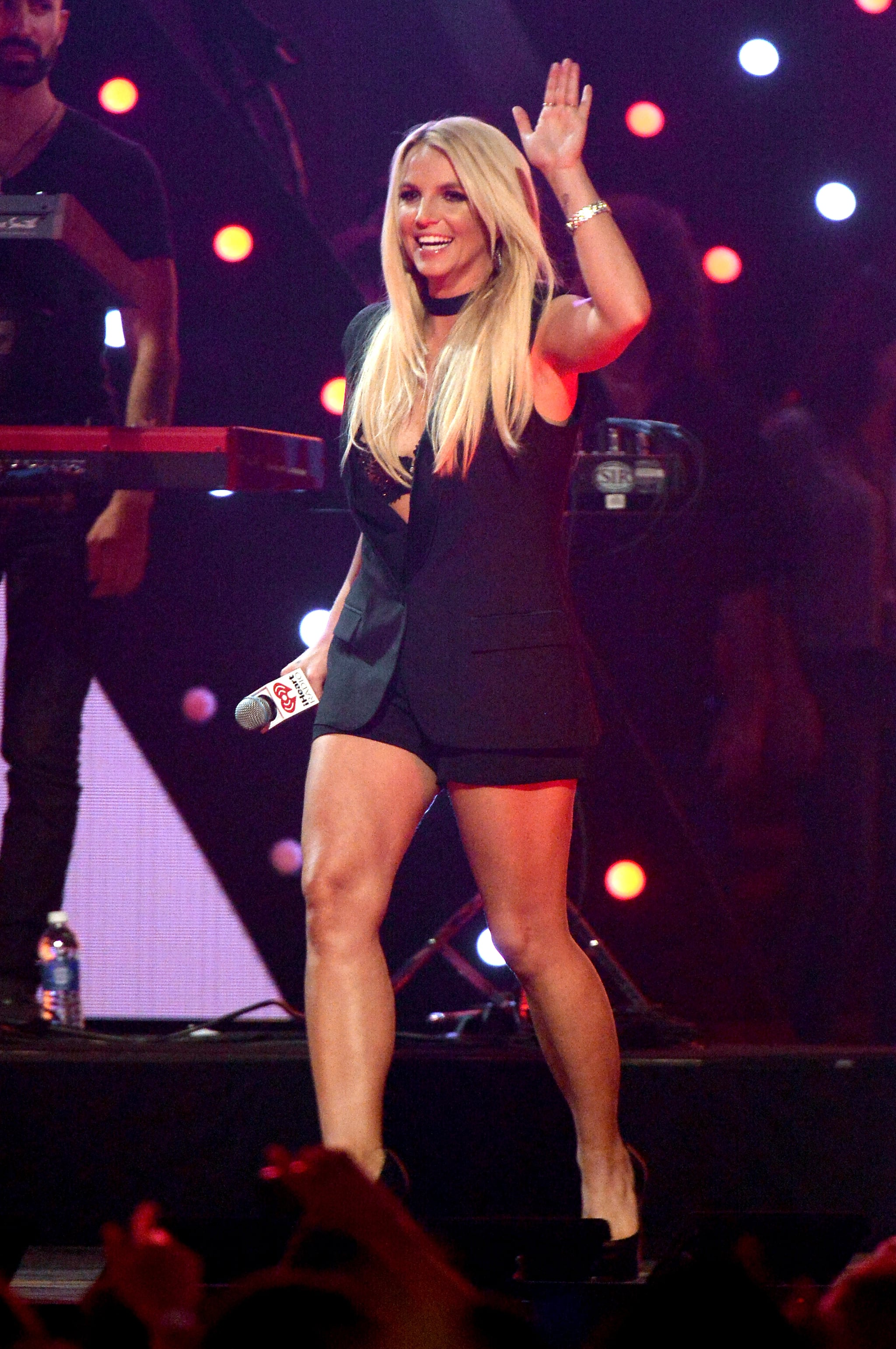 Britney Spears waved to the crowd.