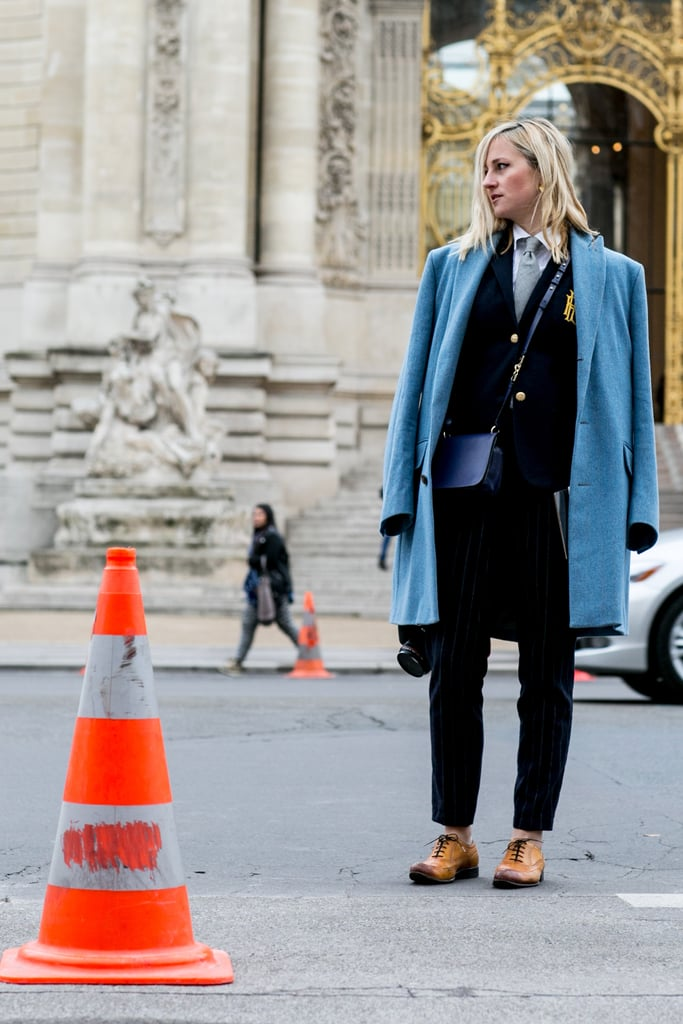 Outfitted, tomboy style, for the cold.