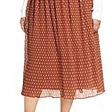 Halogen x Atlantic-Pacific Crinkle Midi Skirt