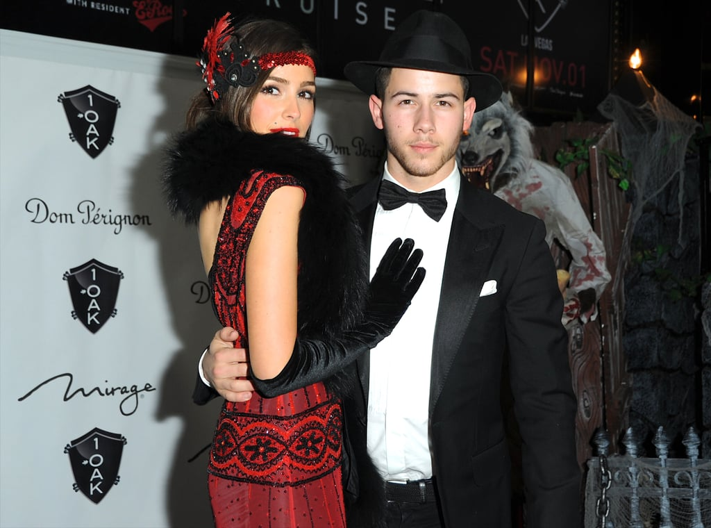 Nick Jonas and Olivia Culpo as a 1920s Couple