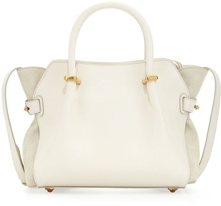 Nina Ricci Marche Extra-Small Leather Satchel Bag, Ivory ($1,490)