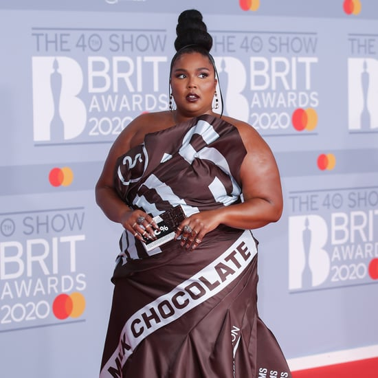 Lizzo's Moschino Hershey's Chocolate Dress on the Red Carpet