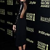 Tessa showed off her sleek back at a Golden Globes celebration in November 2014.