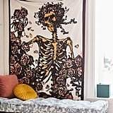 Grateful Dead Skeleton N' Roses Tapestry
