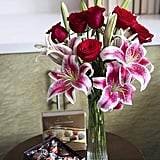 Adore Her Mixed Bouquet of Farm-Fresh Red Roses and Pink Lilies