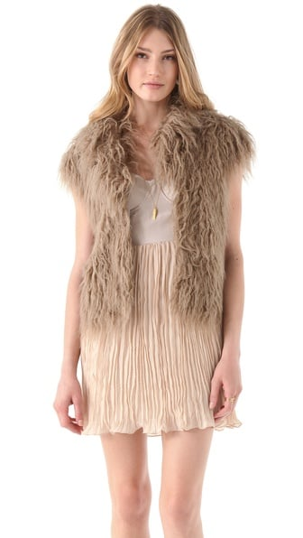 For the girl who loves to wear luxe accents, we've found a gorgeous BB Dakota Mara Faux Tibetan Lamb Vest ($98) that proves plush and edgy.