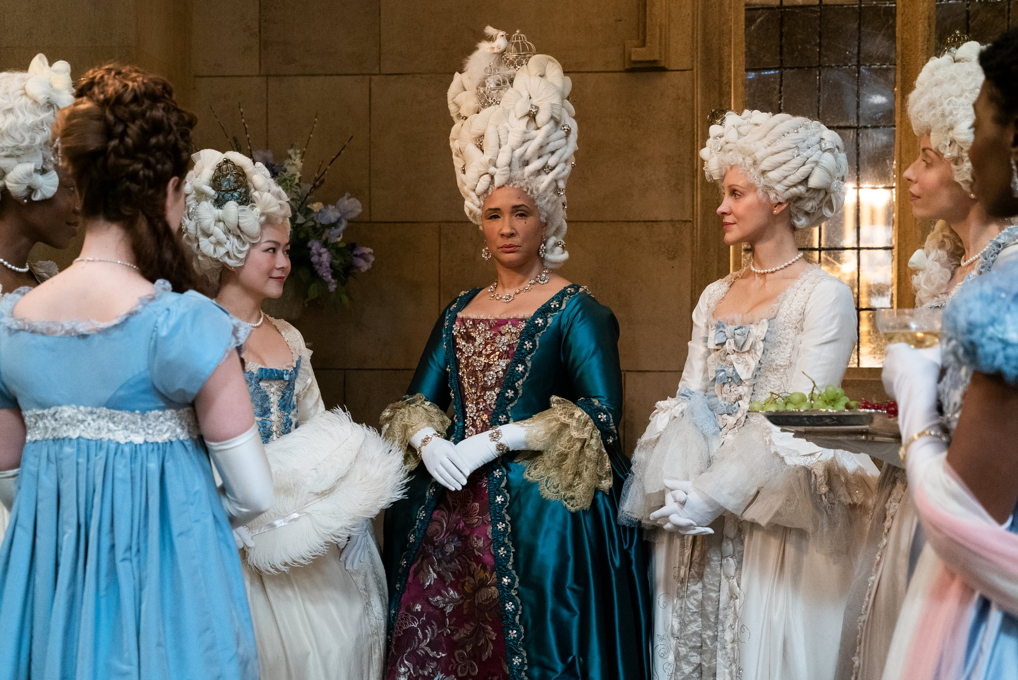 BRIDGERTON GOLDA ROSHEUVEL as QUEEN CHARLOTTE in episode 108 of BRIDGERTON Cr. LIAM DANIEL/NETFLIX  2020