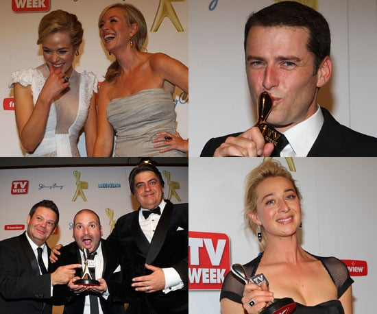 Pictures of the 2011 Logie Award Winners in the Press Room With Their Trophies