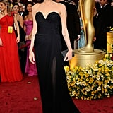 At the 2009 Oscars wearing Elie Saab.