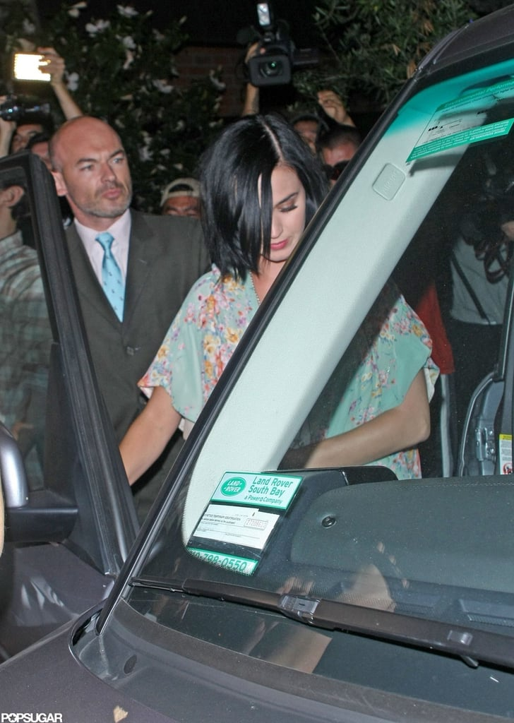 Katy Perry was seen getting into John Mayer's car after the two had a dinner date in LA.