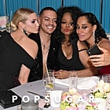 Pictured: Ashlee Simpson, Evan Ross, Diana Ross, and Tracee Ellis Ross