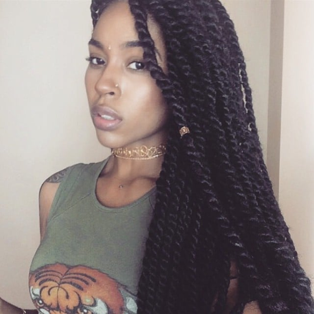 Black braided hairstyles with extensions popsugar beauty pmusecretfo Image collections