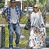 Jessica Simpson and Eric Johnson went out to lunch.